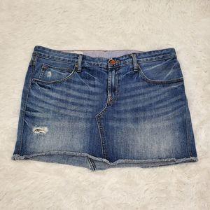 GAP 1969 Distressed Mini Jean Skirt